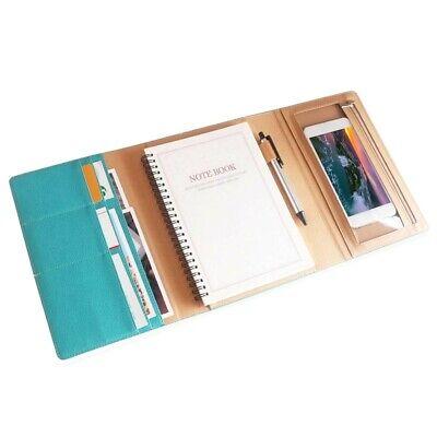 Portfolio Folder Notebook Pu Leather A5 Organizer Case School Office Supplies
