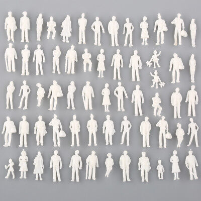 100PCS White Architectural 1:300 Scale Model Figures People