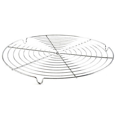 Barbecue BBQ Mesh Rack Wire Round Shape Hiking Grill Net Grilled Picnic Cooling