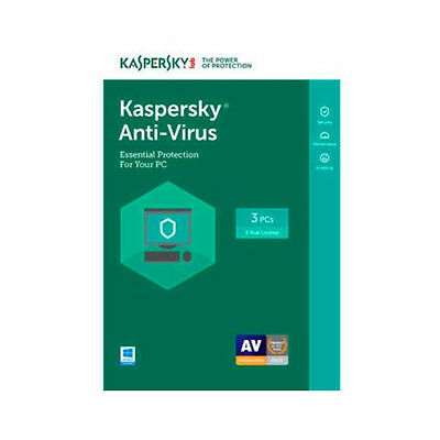 Kaspersky Anti Virus 2017 Kav For 3 Device 1 Year Protection