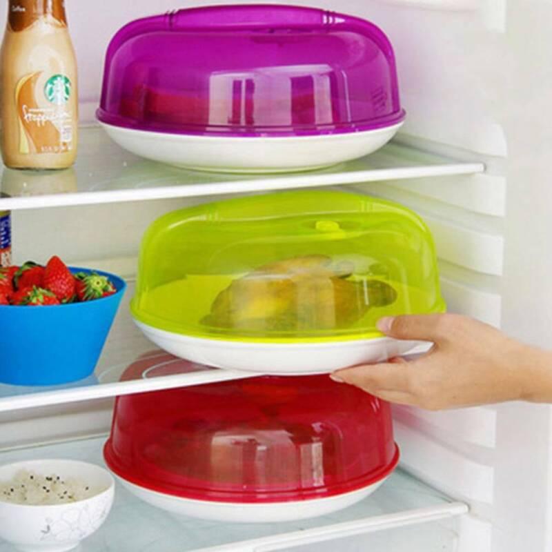 Microwave Plate Topper Cover Food Dish Steam Splatter Lid Ki
