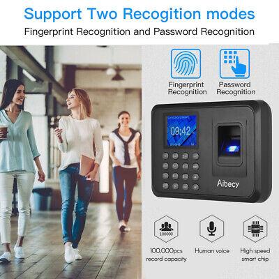 Biometric Fingerprint Checking-in Attendance Machine Employee Time Clock J5i2