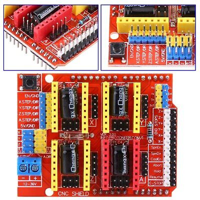 Cnc Shield Expansion Board V3 4pcs A4988 Stepper Motor Driver 4 X Heat Sinks