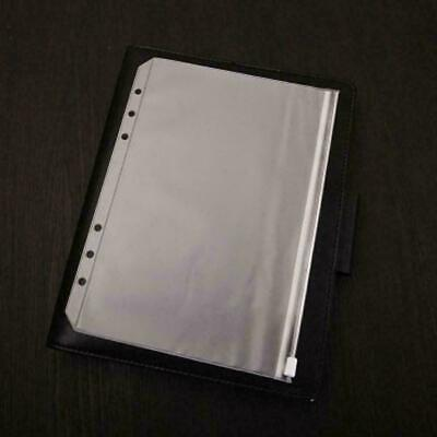 A4/B5/A5/A6 Plastic Zipper Notebook Card Holder Storage Passport V0A2 Bag P Z6G5
