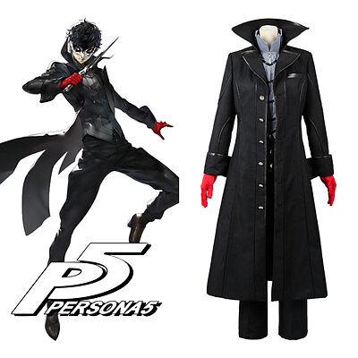 Persona 5 Joker Protagonist Outfit Cosplay Costume Coat Suit Jacket Top Uniform