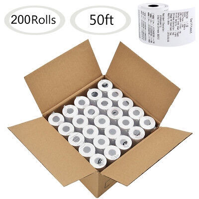 200 Rolls 2 14x50 Thermal Paper Cash Register Pos Receipt Paper Free Shipping