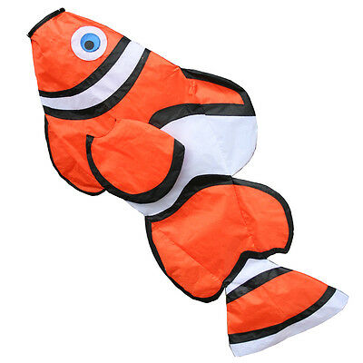 Fish Windsock. For Telescopic Flag Poles. Clown Fish 6 foot Fish Windsock