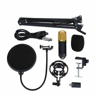 BM-800 Condenser Microphone with Mic Suspension Scissor Arm Stand Kit US STOCK