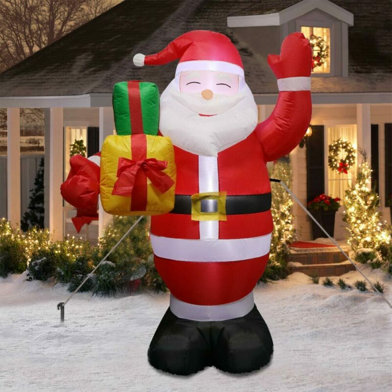 5ft Airblown Inflatable Christmas Santa Blow Up Yard Outdoor Lighted Xmas Decor