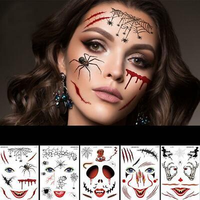 Halloween Gesicht Tattoo gefälschte Aufkleber Atmosphäre lustige Festival - Lustige Halloween Gesichter