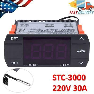 30a 220v Touch Digital Temperature Controller Thermostat With Sensor