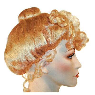 Erdbeere Blond Viktorianisch Perücke Gibson Lockig Upsweep 1800's Kostüm Damen
