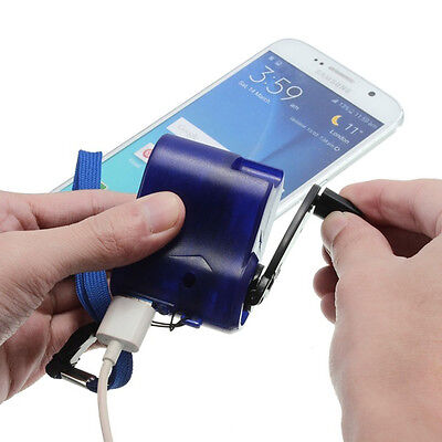 Reisen Handy USB Ladegerät Notfall Hand Cranking Dynamo Elektrische Generator SN