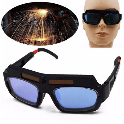Usa Solar Powered Auto Darkening Welding Glasses Mask Helmet Eyes Goggle Pc Lens