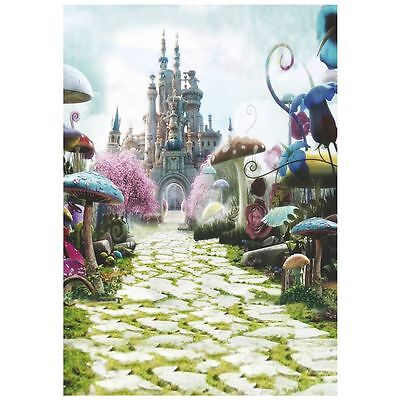 3 x 5FT Fairy Tale Castle Photography Backdrop Studio Props Background U9C4