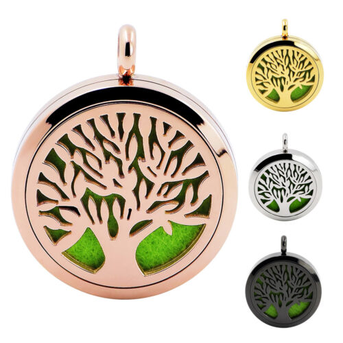 Surgical Steel Essential Oil Diffuser Pendant Aromatherapy S