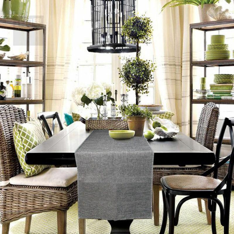 UK Rustic Decor Linen Jute Burlap Natural Table Table Runner Imitated Wedding