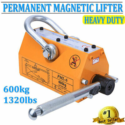 600kg Steel Magnet Magnetic Lifter Lifting Heavy Duty Hoist Crane Industry