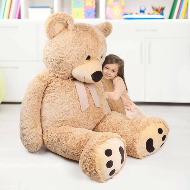 "Giant Teddy Bear 63"" 160cm Stuffed Plush Toy Valentine Gift for Girl Friend Kids"