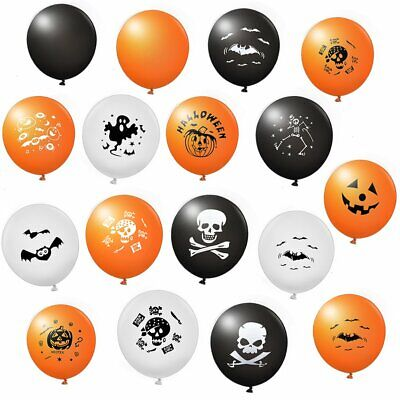 100x Halloween Ballon Totenkopf Spider Kürbis Luftballon Party Dekoration ()