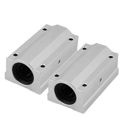 2pc 8121622mm Hole Dia.aluminum Linear Motion Ball Bearing Slide Block Cnc Is