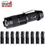10x 6000 LM CREE Q5 LED Flashlight Tactical 3 Modes 14500 Battery Mini Torch TR