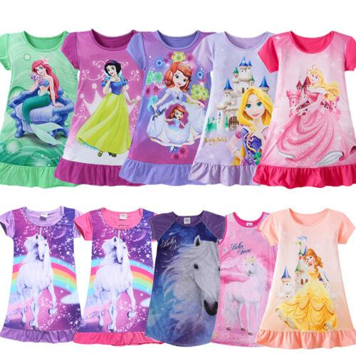 Princess Girls Kids Party Dress Pajamas Nightgown Sleepwear