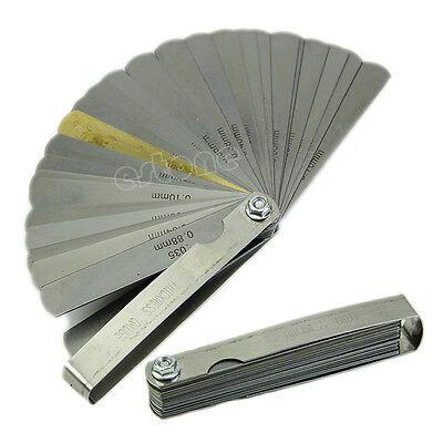 32 Blade Impmertic Brass Blade Feeler Gauge Tune Up Thickness Set