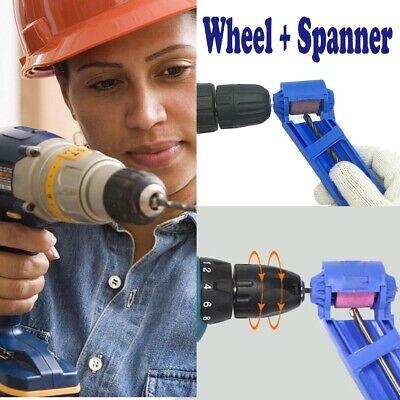 Corundum Wheel Drill Bit Sharpener Wear Part Resisting Grinding Wheel + Spanner