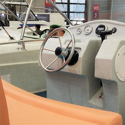 Boat Steering Wheel Stainless Steel 5 Spoke Knurling 13 1 2 For Marine Yacht
