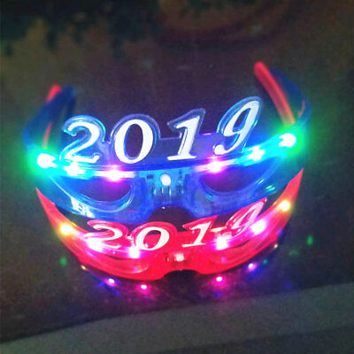 Light Up New Years Eve Party Glasses LED Supplies 2019 Glowing Happy Supplies (Glow New Years Eve)