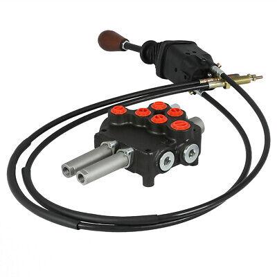 Remote Control P80 Valve Kit 2 Spool Valve 21gpm Joystick Cables 25mpa