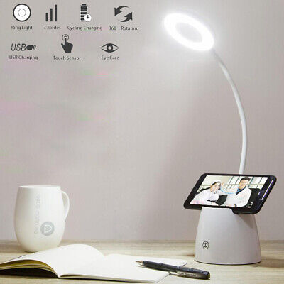 3 Modes Dimmable LED Desk Bedside Reading Lamp Table Touch Control Night Lights
