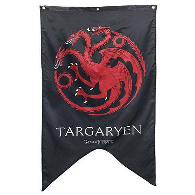 House Targaryn Sigil Banner - Game of Thrones Dragon Flag Poster