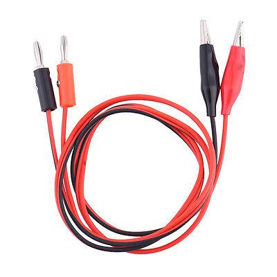 Banana Plug To Alligator Clip Power Supply Test Cord Din Interface Multimeter