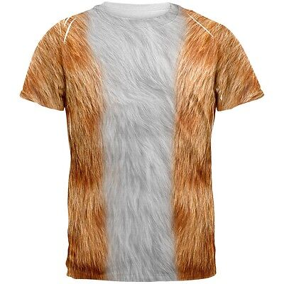 Halloween Orange Cat Costume All Over Adult T-Shirt