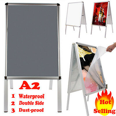 A2 A-Board Pavement Sign Poster Snap Frame Display Stand Shop Advertising Boards