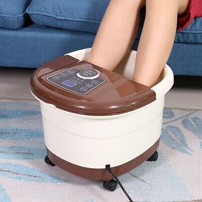Foot Spa Bath Massager Heat Vibration Bubbles Vibrating Feet Pedicure 500W/220V