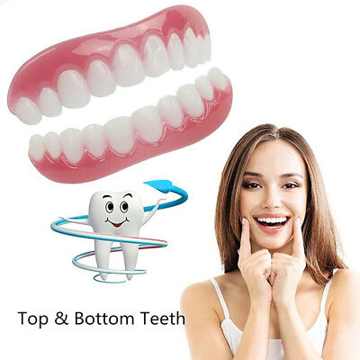 silicone smile cosmetic teeth snap on secure