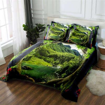 Secrets Of Nature 3D Printing Duvet Quilt Doona Covers Pillow Case Bedding Sets ()