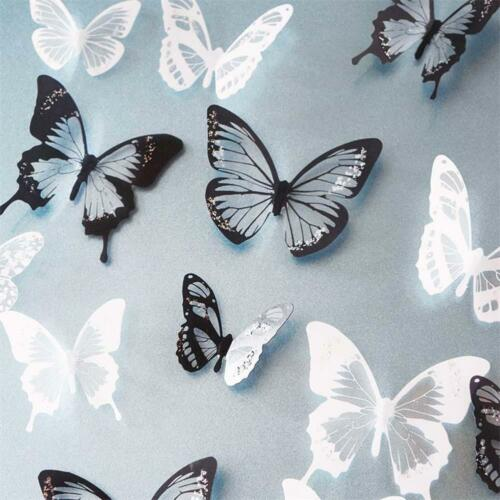 Home Decoration - 18Pcs 3D Butterfly Wall Stickers PVC Children Room DIY Art Decal Home Decoration