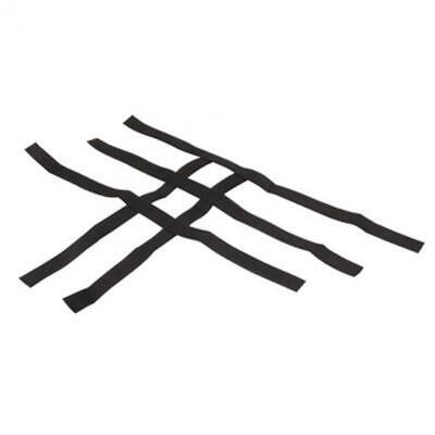 Tusk Foot Peg Nerf Bars With Heel Guards Replacement Webbing Black - Fits: