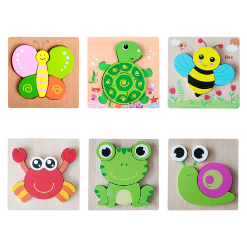 Wooden Puzzles Toddler Puzzle Game Jigsaw Educational Toy fo