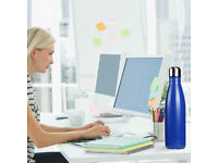 MIDNIGHT BLUE 17oz 500ml INSULATED WATER BOTTLE DOUBLE WALL S/S STEEL VACUUM.***