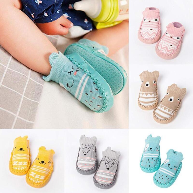 Newborn Baby Soft Sole Crib Shoes Infant Boy Girl Toddler Sneaker Anti-Slip de