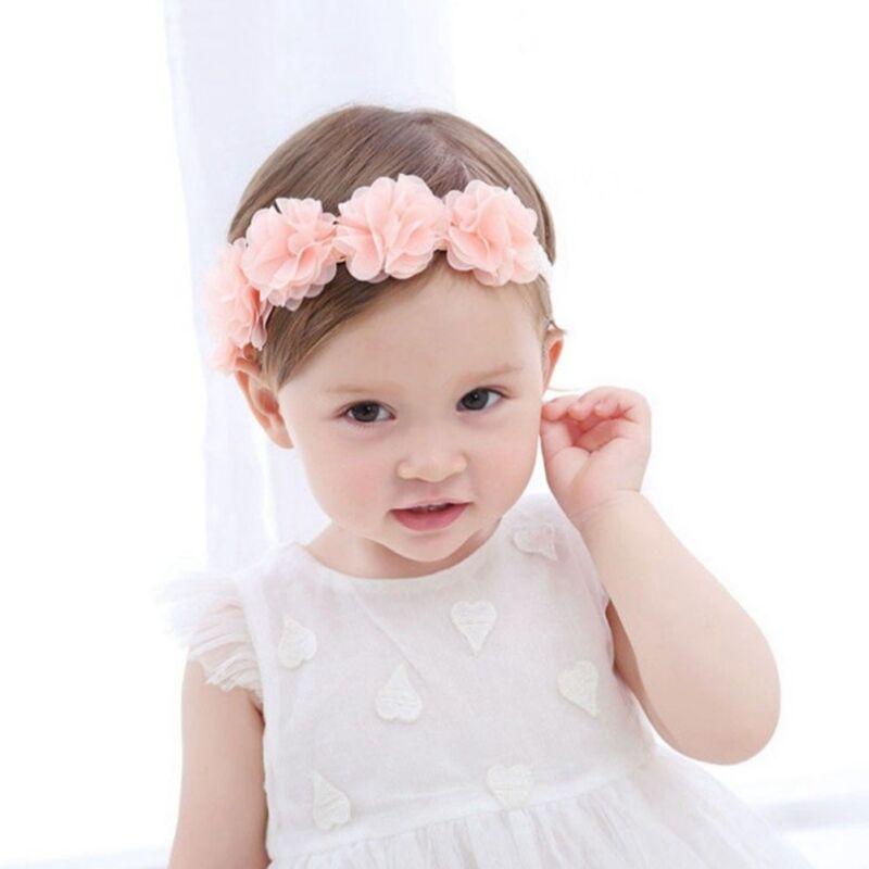 4pcs//set Kids Girls Baby Headband Toddler Bow Flower Hair Band Headwear Accessoy