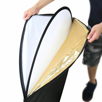 5-in-1 Photography Studio Multi Photo Disc Collapsible Light Reflector US Stock Collapsible Disc Light Reflector