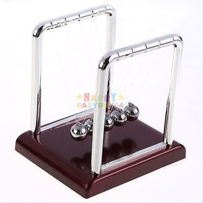 Steel Newtons Cradle Balance Ball Physics Science Pendulum Desk Fun Toy Gift