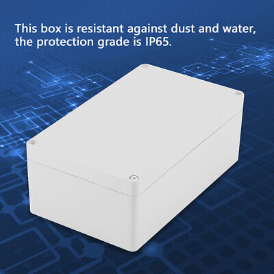 Plastic Enclosure Electrical Junction Box Waterproof Project Case 20012075mm