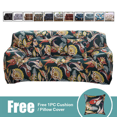 1-3 Seat Printed Sofa Slipcover Spandex Stretch Couch Covers